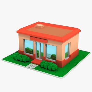 cartoon house 14 model