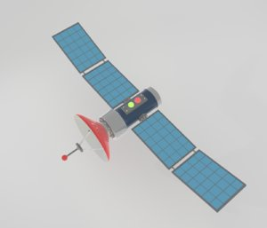 cartoon satelite 3D model