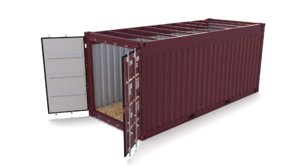3D 20ft shipping container open model