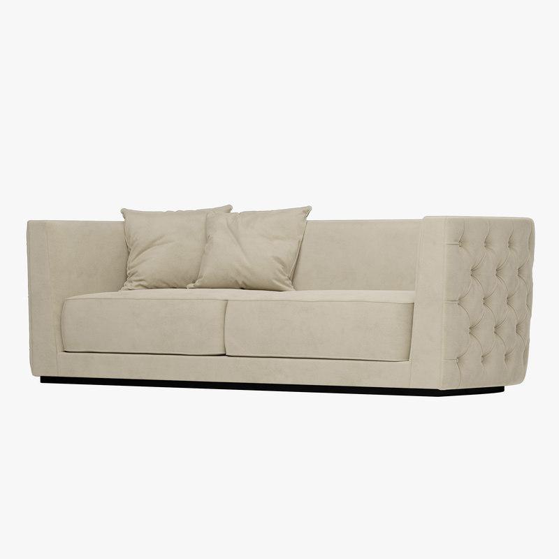 3D leandro sofa opera contemporary