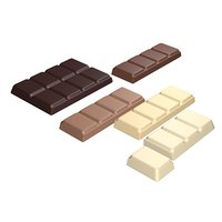 bar chocolate parts 3D model