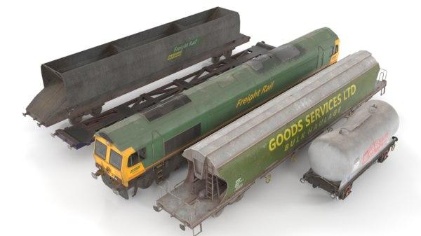 3D train pack polys
