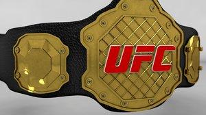 3D ufc champion belt