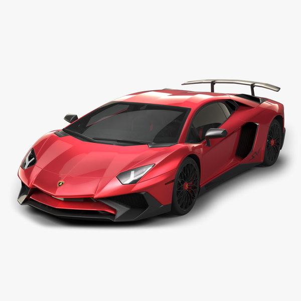 3D model 2016 lamborghini aventador