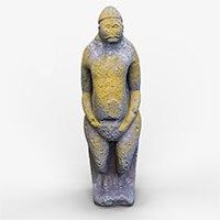 3D model sculpture ancient statue