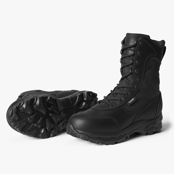 3D blackhawk warrior boots black