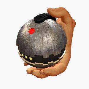 scifi thermal detonator 3D model