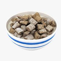 3D bowl cereals model