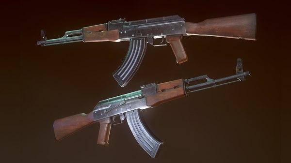 3D model weapon assault rifle