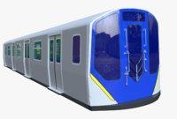 ny subway car r211 3D