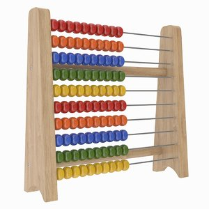 3D model abacus