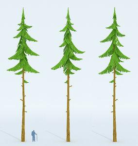cartoon forest spruce model