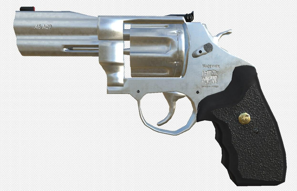 gun revolver 3D model