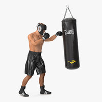 punching bag boxer rigged 3D