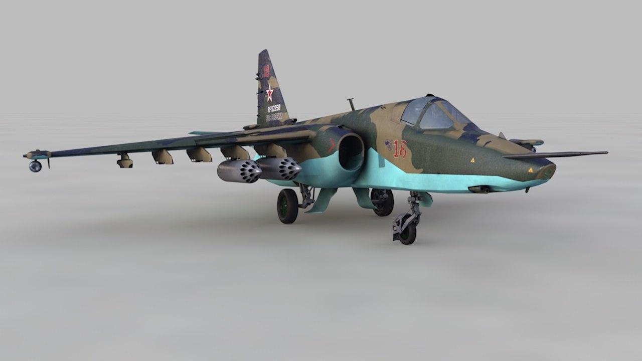 3D model aircraft su-25