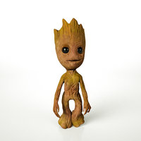 Baby Groot 3D Rigged Animated