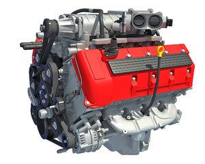 engine v8 3D model