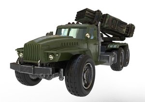 kraz bm-21 grad 3D model