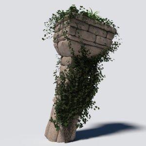 3D overgrown column