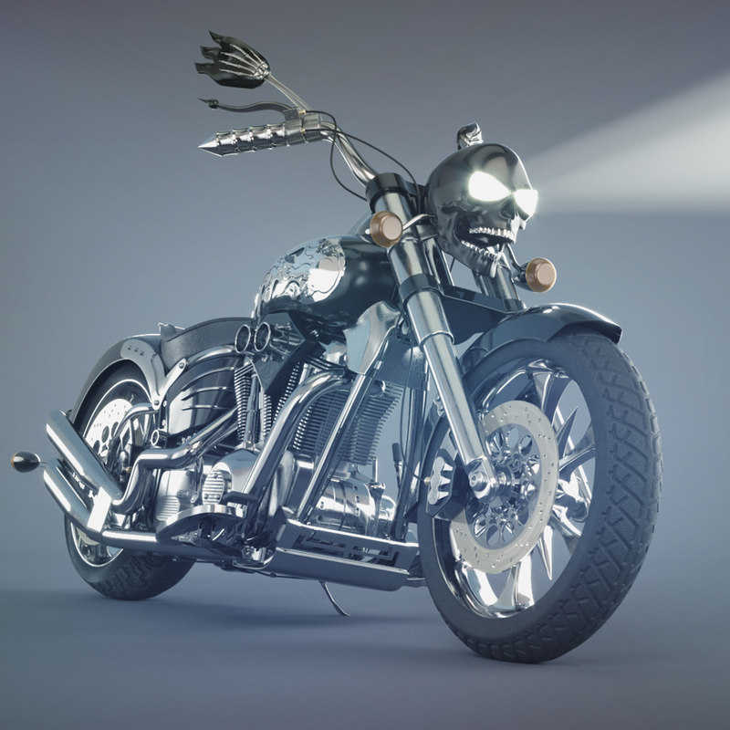 3D concept moto rigged model