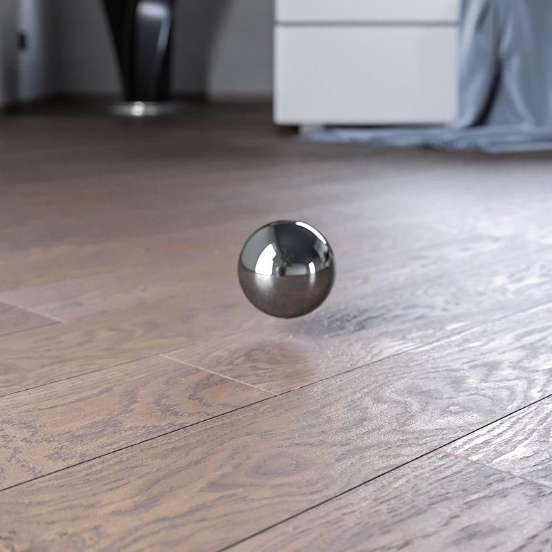 3D parquet planks model