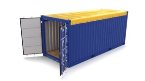 20ft shipping container open model