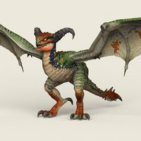 3D ready wild dragon games model