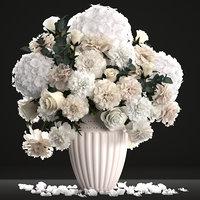3D bouquet wthite flowers