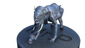 3D ugly monster model