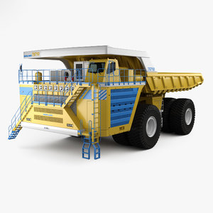 belaz 75710 dump 3D model
