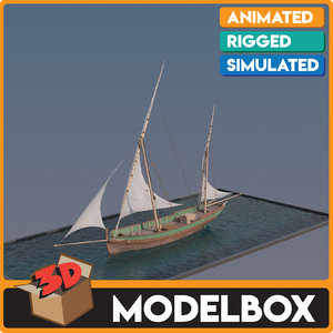 3D bumbarta sail boat