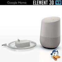 google home element 3D model