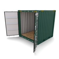8ft shipping container 3D model