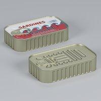 3D sardine pbr unity model