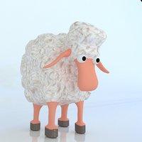 cartoon sheep 3D