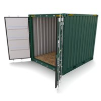 3D 10ft shipping container