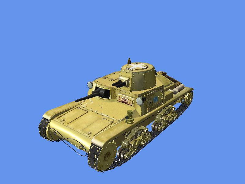 italian medium tank 3D model
