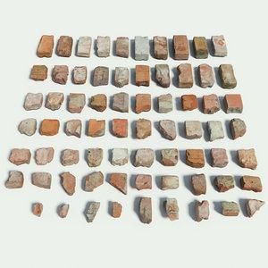 brick set fotogrammetry 3D model