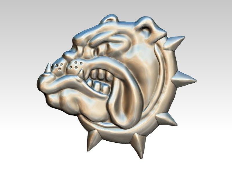 3D bulldog pins rings