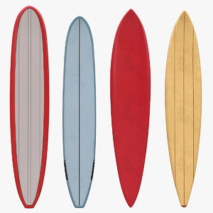 retro longboards board 3D model