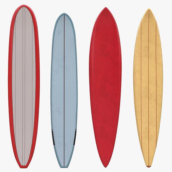 retro longboards board 3D model