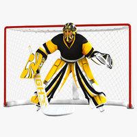 hockey goal 3D