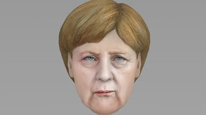 head angela merkel model