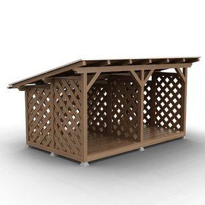 3D firewood storage model