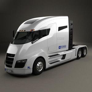 3D nikola tractor truck