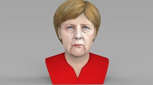 3D angela merkel bust ready model