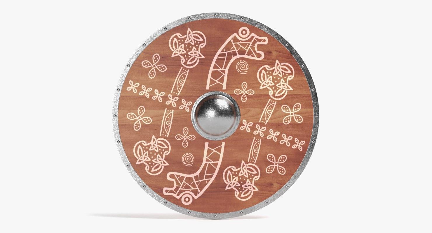 viking shield 3D