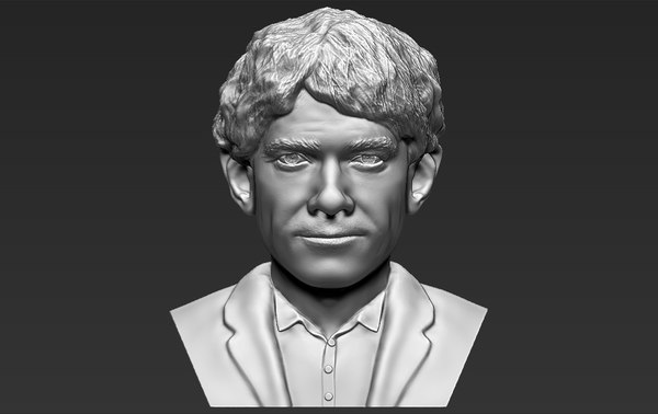 bilbo baggins hobbit bust 3D model