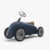 3D rider bleu baghera model
