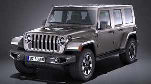 jeep wrangler sahara 3D model